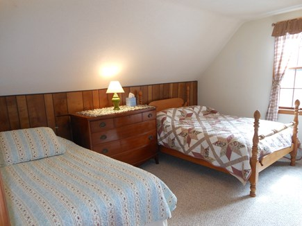 North Eastham Cape Cod vacation rental - Upstairs bedroom with double bed, 2 twins and AC