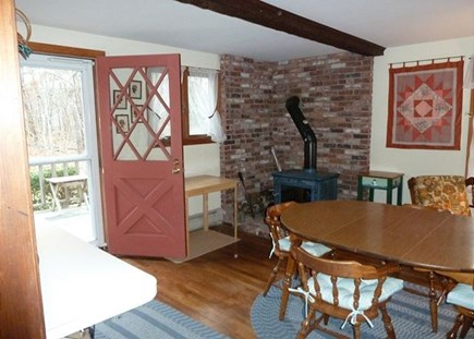 North Eastham Cape Cod vacation rental - Side entrance and dining area