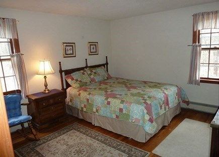 North Eastham Cape Cod vacation rental - 1st floor back bedroom with queen bed and AC