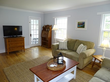 harwich Cape Cod vacation rental - Spacious living room with two couches, flat screen TV