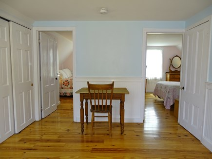 harwich Cape Cod vacation rental - Upstairs landing - new pine floors