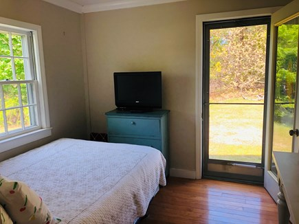 harwich Cape Cod vacation rental - Bedroom 3 w/double bed, flat screen TV. Door to private backyard.