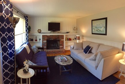 South Dennis Cape Cod vacation rental - Family room equipped with cable TV, DVD player, & wifi