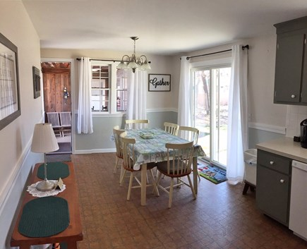 South Dennis Cape Cod vacation rental - Eat-in kitchen perfect for gathering and socializing