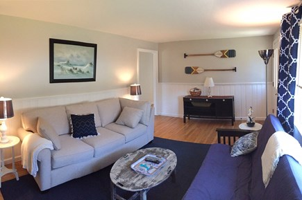 South Dennis Cape Cod vacation rental - Family room includes a couch & comfy futon for sleeping