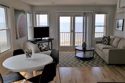 North Truro Cape Cod vacation rental - Living / Dining / Pull out couch