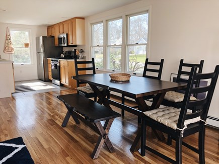 South Dennis Cape Cod vacation rental - Dining area into kitchen