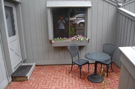 New Seabury, Stendahl Condominiums Cape Cod vacation rental - Front Patio