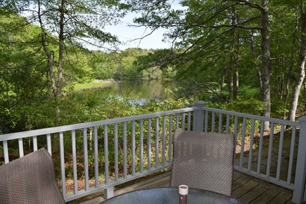 New Seabury, Stendahl Condominiums Cape Cod vacation rental - View of Dean's Pond from our deck.