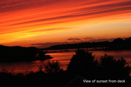 Bourne, Pocasset Cape Cod vacation rental - Beautiful sunset from the roof deck