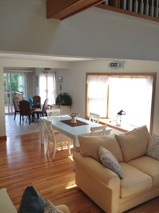 South Yarmouth Cape Cod vacation rental - View of open and bright first floor. Great for family dinners.
