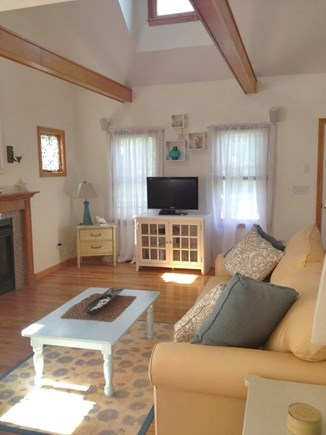 South Yarmouth Cape Cod vacation rental - Open Living Room with Gas Fire Place