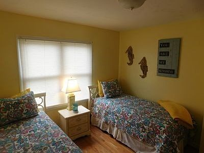 South Yarmouth Cape Cod vacation rental - Back Bedroom with 2 twins that convert to a King. Large window.