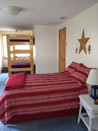 South Yarmouth Cape Cod vacation rental - Other side of bedroom with second two twin over twin bunks.