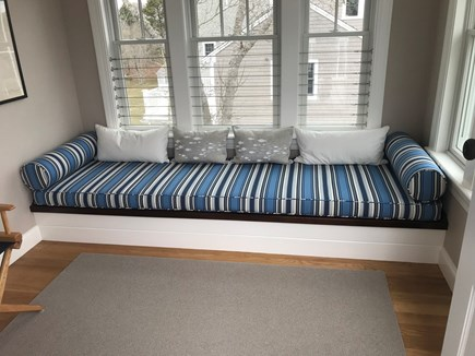 West Yarmouth Cape Cod vacation rental - Custom made bench seat, perfect spot to read or enjoy the view!