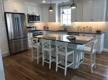 West Yarmouth Cape Cod vacation rental - Granite counters, stainless appliances, Island seating for 4.