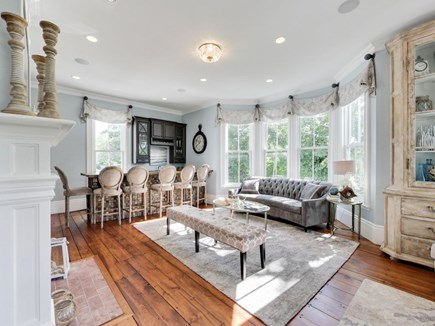 Harwich Port Center Cape Cod vacation rental - TV lounge and bar feels like a private club