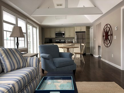 Harwich Port Cape Cod vacation rental - Kitchen and living Room