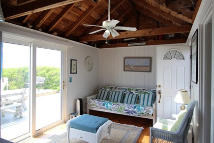Truro Cape Cod vacation rental - Living Room with Ceiling Fan and Double Futon