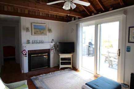 Truro Cape Cod vacation rental - Living Room Opens to the Deck