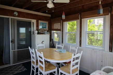 Truro Cape Cod vacation rental - Dining on the Sun Porch