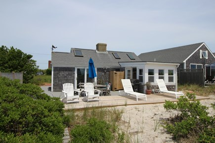 Truro Cape Cod vacation rental - Beach Side of the Cottage