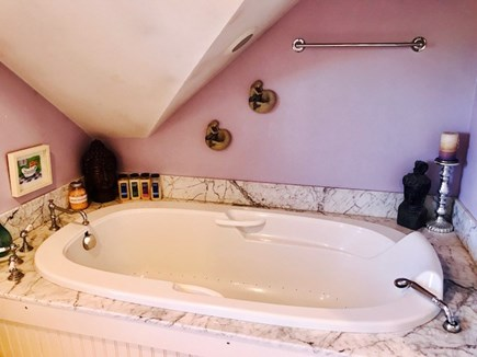 Brewster Cape Cod vacation rental - Master bathroom with jacuzzi tub.