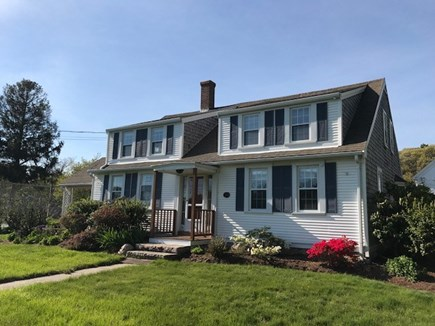 Brewster Cape Cod vacation rental - Front of the house, with large front lawn, facing Rt. 6a