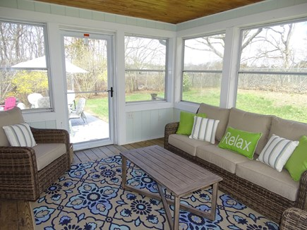Falmouth Cape Cod vacation rental - Screened in porch, overlooking patio and backyard
