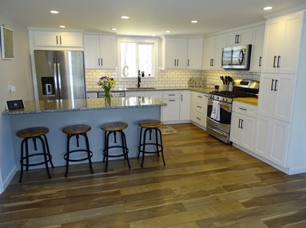 Falmouth Cape Cod vacation rental - Updated kitchen with breakfast bar