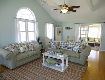 Falmouth Cape Cod vacation rental - Comfortable living room, opens to porch