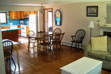 Falmouth Cape Cod vacation rental - From the LR into the DR with the kitchen behind. Very open layout
