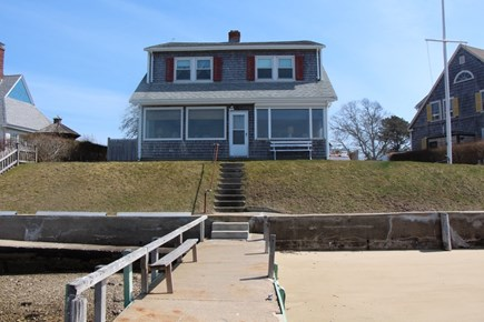 Bourne Cape Cod vacation rental - View of house from the jetty where you can swim, fish, and boat