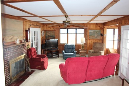 Bourne Cape Cod vacation rental - Spacious living room with cable TV, Bose radio, CD and DVD player