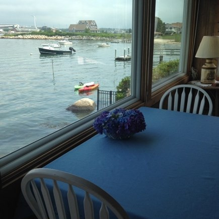 Bourne Cape Cod vacation rental - Dine waterfront! Sweeping views of canal, MMA, Onset and bay!