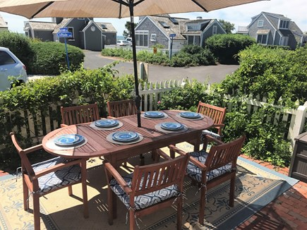 New Seabury, Maushop Village New Seabury vacation rental - Patio dining with views of Nantucket Sound