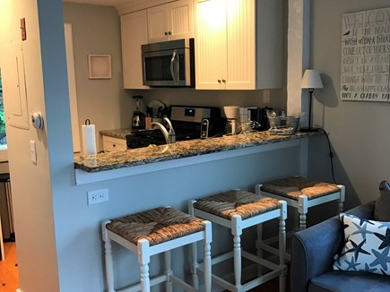 New Seabury, Maushop Village New Seabury vacation rental - New kitchen with granite counters and breakfast bar