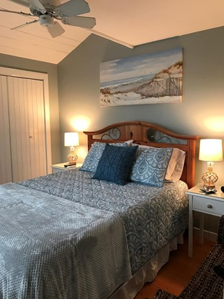 New Seabury, Maushop Village New Seabury vacation rental - First floor bedroom - queen bed - with portable a/c unit