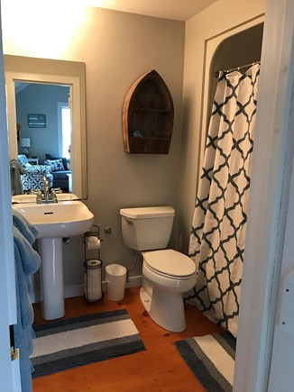 New Seabury, Maushop Village New Seabury vacation rental - Full bathroom with shower/tub on first floor