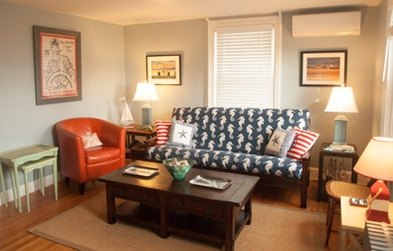 Provincetown Cape Cod vacation rental - Living Room with views to harbor. Very sunny.