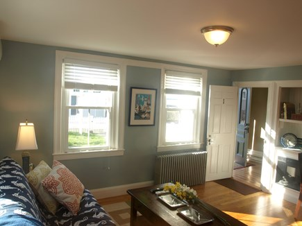 Provincetown Cape Cod vacation rental - Living room with view to front entrance.