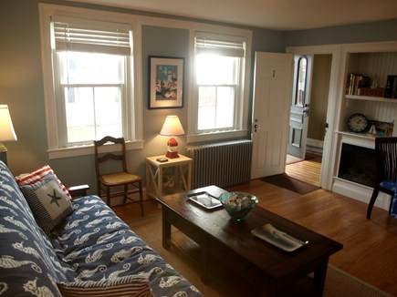 Provincetown Cape Cod vacation rental - Living room which looks out toward the front of the house.