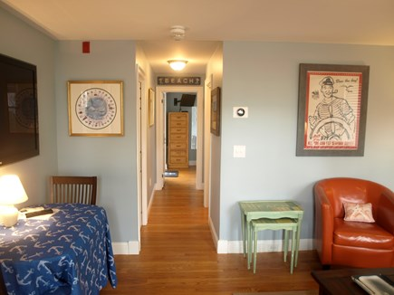 Provincetown Cape Cod vacation rental - Hallway to the bedroom which is in the back.