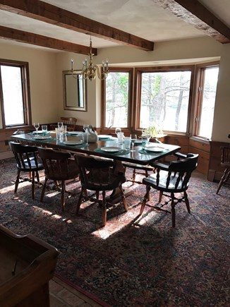 Brewster Cape Cod vacation rental - Dining room overlooks Canoe Pond.