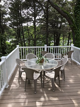 Brewster Cape Cod vacation rental - Deck overlooks property and pond
