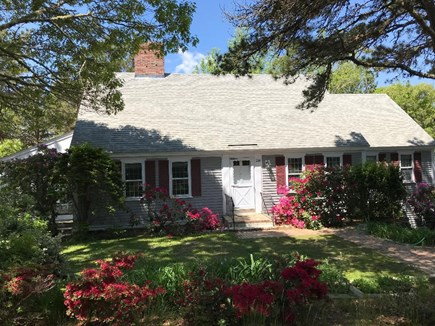 Brewster Cape Cod vacation rental - Pondside four bedroom guest house with landscaped grounds.
