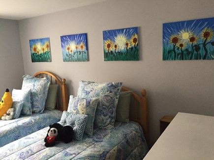 East Falmouth Cape Cod vacation rental - Bedroom 2: Two twin beds