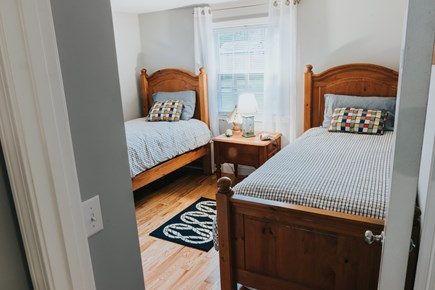 East Falmouth Cape Cod vacation rental - Bedroom 1: Two twin beds