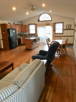 Harwich Cape Cod vacation rental - Family Room, Dining & Kitchen