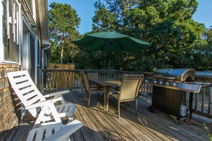 Harwich on the Dennis Border Cape Cod vacation rental - Deck includes gas and charcoal grill